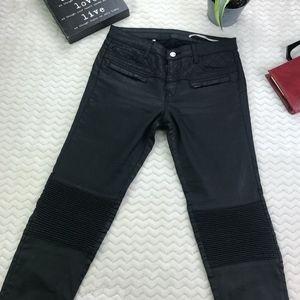 Zara Woman Faux Leather Pants Black Size 6